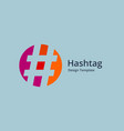 hashtag symbol logo icon design template elements vector image