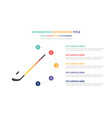 hockey ice infographic template concept with five vector image vector image