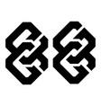 initial letter eg sg gg logo template set vector image