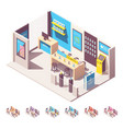 isometric mobile phone operator shop vector image