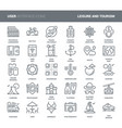 leisure and tourism icons vector image vector image
