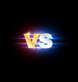 logo vs versus gold and silver letters vector image