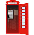 london telephone booth vector image