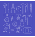 Metaworking linear icons vector image vector image