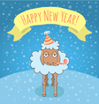 New Year lamb vector image vector image