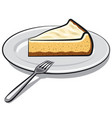 new york cheesecake vector image
