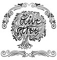 olive tree vector image