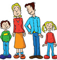 parents and kids vector image vector image