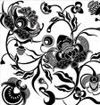 pattern floral vintage vector image