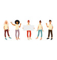 people with different gestures presentation vector image