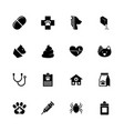 pet vet - flat icons vector image vector image
