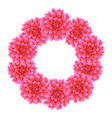 pink dahlia wreath style 2 vector image vector image