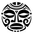 polynesian maori face tattoo pattern hawaiu vector image vector image