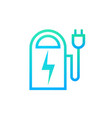 power bank icon outline modern portable battery vector image
