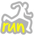 run symbol vector image vector image