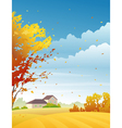 Rural autumn day vector image vector image