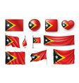 set east timor flags banners banners symbols vector image vector image
