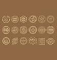 set linear labels for handmade goods vector image