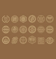 set of linear labels for handmade goods vector image