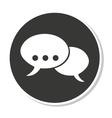 speech bubble messag icon vector image