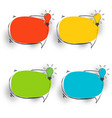 speech bubbles set with lamp vector image