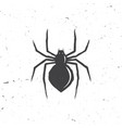 spider silhouette in retro style vector image vector image
