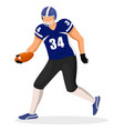 sportsman guy run and play in american football vector image