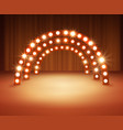 stage with circle light bulbs vector image vector image