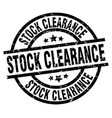 stock clearance round grunge black stamp vector image vector image