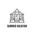 summer vacation concept design vector image vector image
