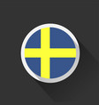 sweden national flag on dark background vector image vector image