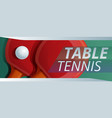 table tennis concept banner cartoon style vector image vector image