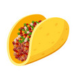 tacos fresh spicy meal or snack for lunch dinner vector image