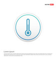 thermometer icon - white circle button vector image