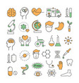 thin line art style design medicine icons vector image