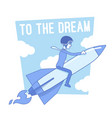 to the dream motivation lineart concept vector image vector image