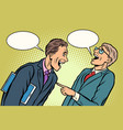 two businessmen meeting laughing vector image vector image