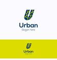 u urban logo vector image vector image