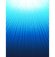 under water rays vector image vector image