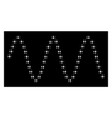 White halftone sinusoid waves icon