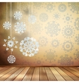 White snowflakes in beige room EPS 10 vector image vector image