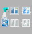 window cleaning detergent 3d realistic vector image vector image