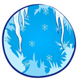 Winter Season Window vector image vector image