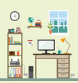 workspace im room vector image vector image