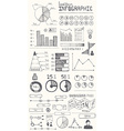 Hand drawn infographic elements vector image