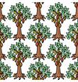 cocoa bean tree hand drawn sketch doodle vector image
