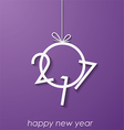 2017 Happy New Year background vector image