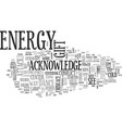 a gift of energy text word cloud concept vector image vector image