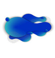 abstract color liquid shape vector image vector image