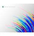 abstract of colorful rainbow stripe square line vector image